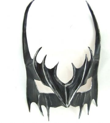Genuine Handmade Leather Demon Bat half Mask